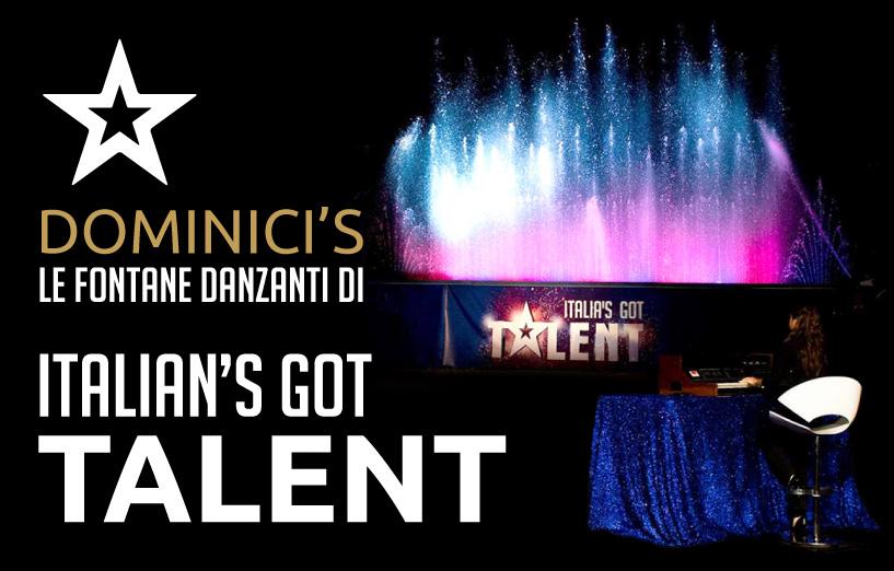 Dominici's le fontane danzanti di Italian's Got Talent