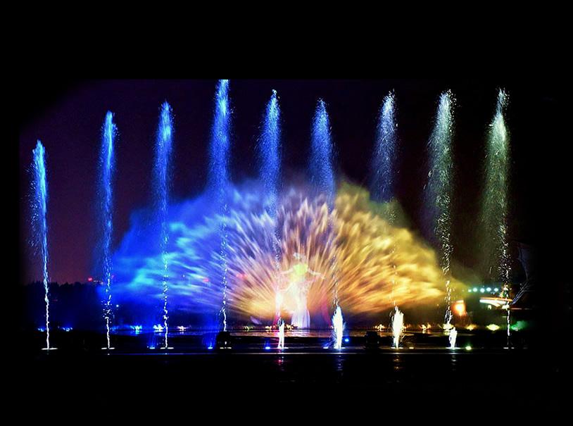 Fontane danzanti Dominici's - Spettacoli con schermi e muri d'acqua